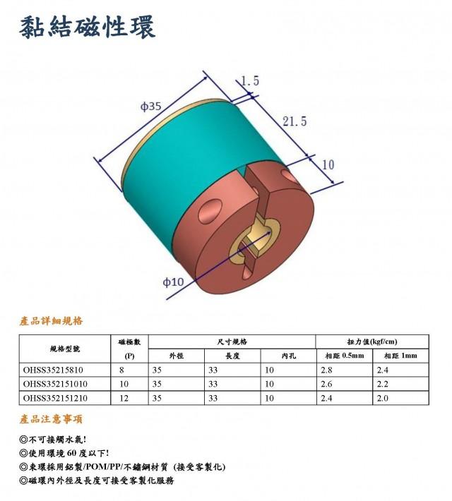 黏結磁性環型錄